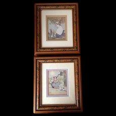 Two Agnes Richardson Coloured Prints