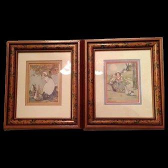 Agnes Richardson Framed Signed Coloured Prints