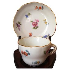 Meissen Demitasse Cup and Saucer