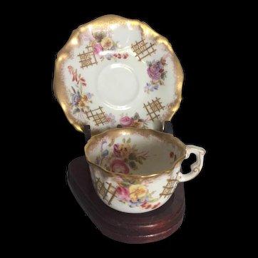 Antique c 1890's Hammersley & Co Hand Painted Tea Set
