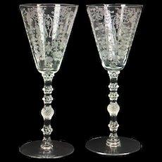 "Cambridge ""Diane"" Wine glasses"