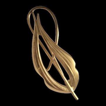 Elegant Gold Brooch/Pin by Kordes & Lichtenfels