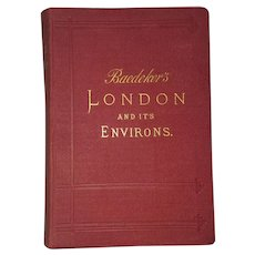 Antique Book: Baedeker's London and its Environs, Travel Guide