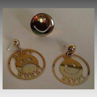 Smiley Face Earrings & Ring Set