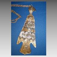 Huge Stylized Eagle Necklace/Pendant
