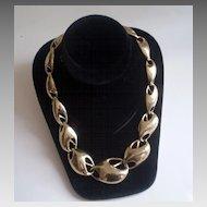 Linked Goldtone Modernist Necklace