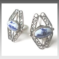 Delft Earrings, 835 Silver Filigree