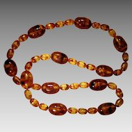 Chunky Amber Bead Necklace