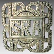 Art Deco Monogram Brooch/Pin