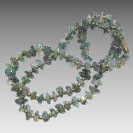 Olive Green Translucent Quartz Necklace