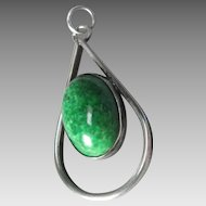 Eilat and Sterling Silver Pendant