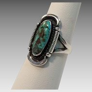 Sterling Silver and Turquoise Native American/Southwestern Ring
