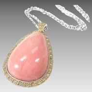 Huge Pink Avon Pendant, Elizabeth Taylor for AVON