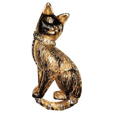 Charming Cat with Rhinestone Brooch/Pin