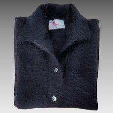 Luxurious Vintage Medima-Modell Black Angora Sweater