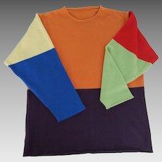 Lucien Pellat-Finet Vintage Cashmere Color Block Sweater