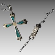 Sterling and Turquoise Navajo Necklace, Signed