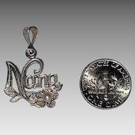 "Sterling Silver ""Nana"" Pendant"