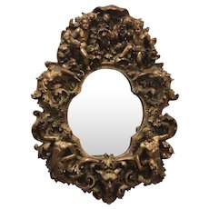 Fabulous Gilded Mid-Century Mirror by Finesse Originals