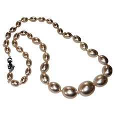 Pale Pink Faux Pearl Necklace by Marvella