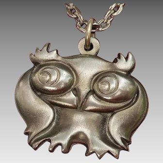 Mid-Century Jorgen Jensen Pewter Pendant/Necklace