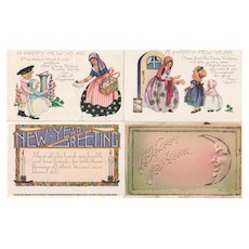26 New Year's Postcards, 1907 - 1920s