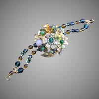 1940's DeMario Layered Bracelet with Glass Seed Pearls #2