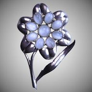 "1939 Eisenberg Original ""Daisy"" Fur Pin Clip"