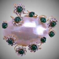 Hattie CARNEGIE 3-D Shell Brooch 1950-60's