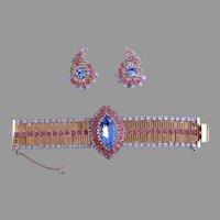 HOBE Bracelet Earrings 1950's