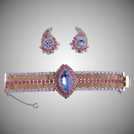 HOBE Bracelet Earrings 1950's
