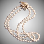 Lustrous Haskell-style Glass Baroque Pearl Necklace