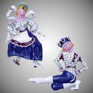 """Ivan and Tania"" Pin Clips David Mir for Trifari 1942"