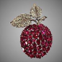 "Trifari ""Alfred Philippe"" Swinging Apple Pin Brooch"