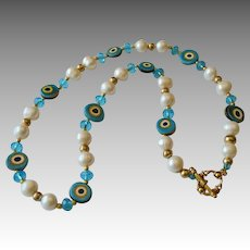 Artisan Murano Glass Beaded Talisman Necklace