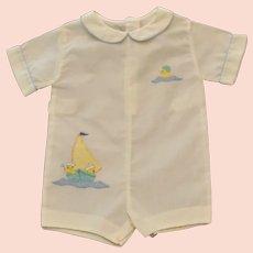 Boys Infants (M) White Madeira Handmade Sailor Romper Suit