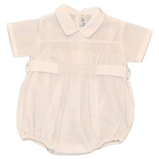 Vintage Infant Boys Dressy / Christening One Piece Romper