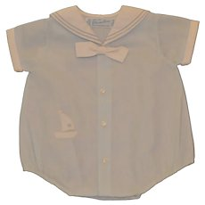 Child's Infant Boys Feldman Bros Size 0 One Piece Romper