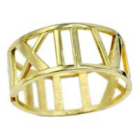 Costume Elegance 1-inch 10K Gold Plate Roman numeral Cuff Bracelet