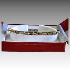 Nomination Designer Stainless Steel, 18K Gold & Crystal Link Tennis Bracelet