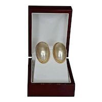 Givenchy 14K Gold-plated Faux Pearl Dome Designer Clip Earrings