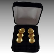 Beautiful 14K Gold Plate Matte Gold Finish Triple Disc Drop Earrings