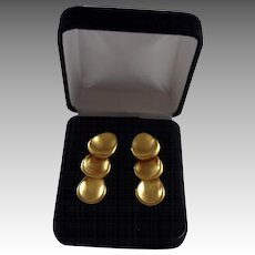 Beautiful 14K Gold Plate Matte Gold Finish Triple Disc Drop Earrings