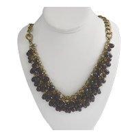 Vintage Talbot Chunky Multi-Strand Bohemian Style Bead Bib Necklace
