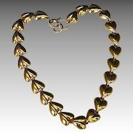 Vintage Anne Klein 10K Gold Plate Link Necklace