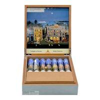 Lacquered Wood Montecristom Cigar Humidor Artist Series Michel Delacroix
