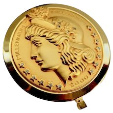 Limited Edition IRICE Liberty Crown embossed Millennium Compact