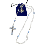 French Our Lady of Lourdes Bubble Lucite Rosary 1950's