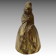 Victorian Lady With Bonnet Brass Dinner Bell