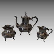 Smith, Hall, Miller & Co Quadruple Plate Silver Victorian Tea Set